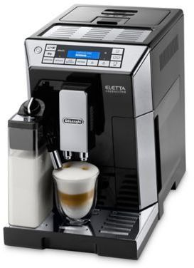 De'Longhi Delonghi Eletta Top Fully Automatic Espresso and Cappuccino Machine in Stainless Steel/Black