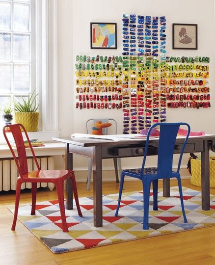 TOY CARS DECOR took ikea magnetic strips and put cars on it. Neat idea for boys room