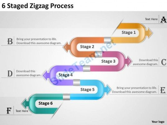1013 Strategy Consulting Business 6 Staged Zigzag Process Powerpoint