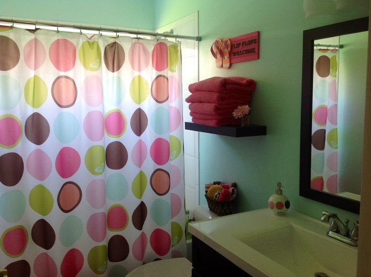 Best Kids Bathroom Ideas Images On Pinterest Bathroom Kids - Girl bathroom shower curtain for small bathroom ideas