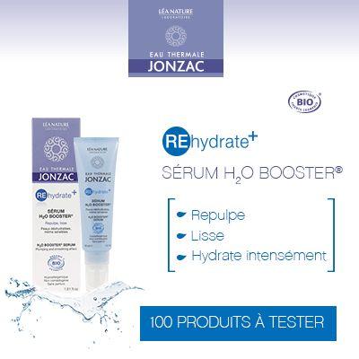Test produits - Sérum H2O Booster - REhydrate + de Eau Thermale Jonzac - Nous recherchons 100 testeurs ! Posez votre candidature gratuitement.