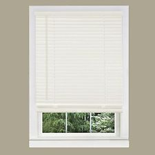 Brand New Achim Home Furnishings 1-Inch Wide Window Blinds, 33 By 64-Inch, White