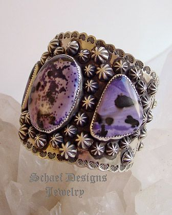 Schaef Designs Tiffany Stone & Sterling silver Southwestern cuff bracelet   Collectible turquoise jewelry   New Mexico   New Mexico