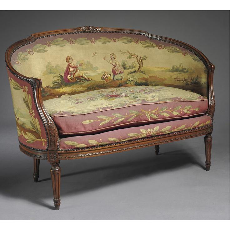 Louis XV Style Aubusson Tapestry    http://heleneflont.blogspot.fr/