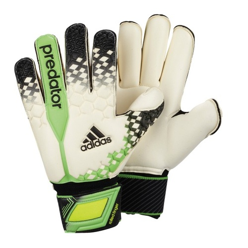 The Adidas Predator Roll Finger Goalkeeper Gloves are a new update from Adidas for 2013 featuring Allround latex foam.  The Adidas Allround latex foam is 4mm thick and is ideal for use in all weather conditions and offers great durbility and lifespan, this is a latex foam that is used by my professional goalkeepers,  Adidas Allround latex is one of the best latexs available on the market place, this latex is exclusive to Adidas.