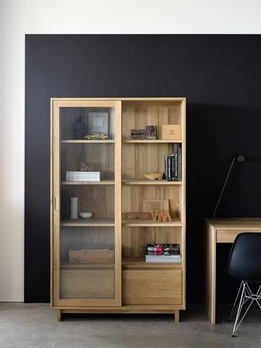 Wave - Offering smooth planes and clean lines in solid oak, the Wave living range from Ethnicraft will provide the perfect storage solution in any contemporary interior. With its smooth sliding glazed doors, the Wave book rack will perfectly display books, ornaments and photographs, while the Wave sideboard offers stylish matching storage.