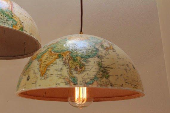 Minha luminária de globo terrestre