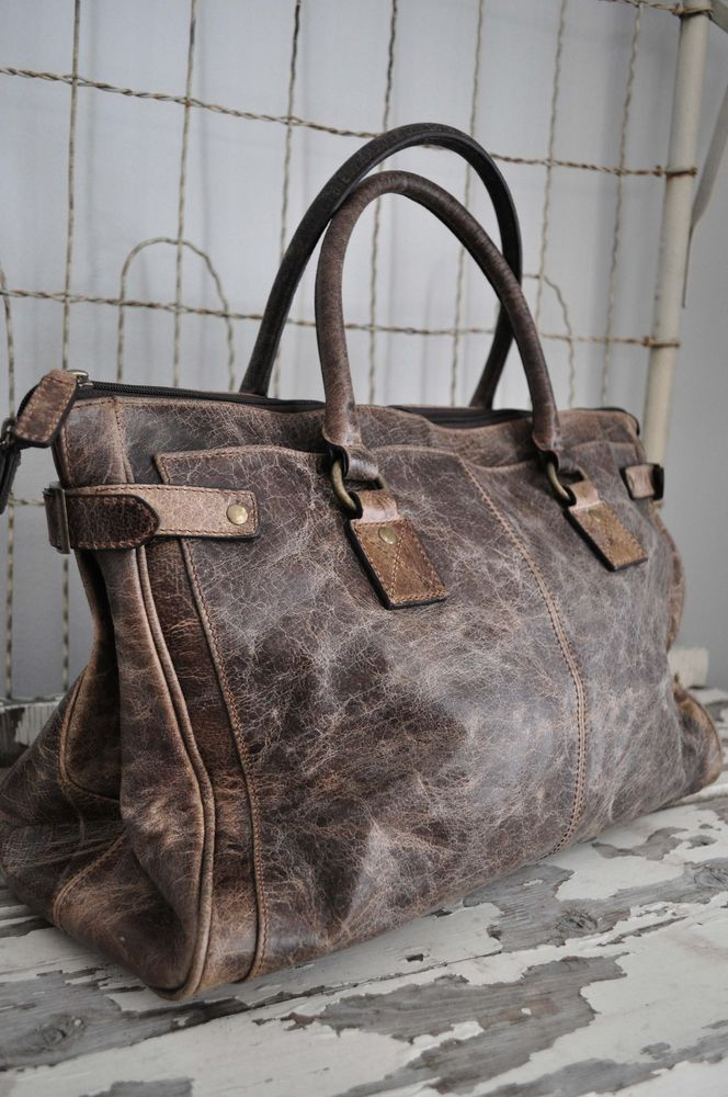 Frye Deborah Glazed Vintage Satchel Handbag | Distressed Leather handbag Vintage Grey deborah Shoulder frye satchel ...