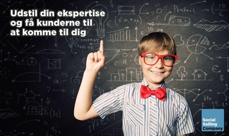 Udstil din ekspertise og få kunderne til at komme til dig...