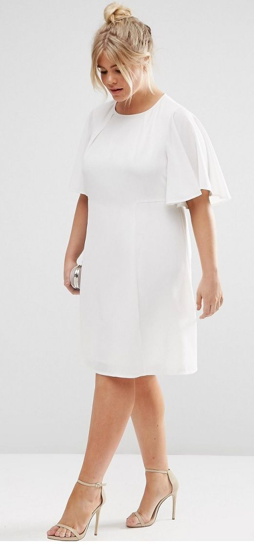 Plus size white dress with jacket
