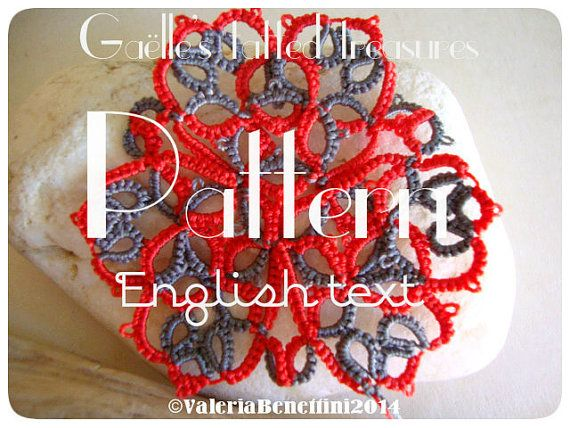 Tatting pattern with English explanations by gaestattedtreasures