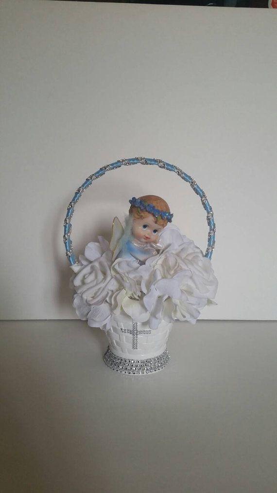 Baptism centerpiece boy girl
