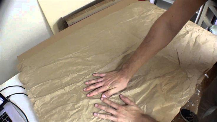 Creare terreno increspato con carta da imballaggio - Parte4