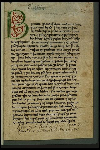 Peterborough.Chronicle.firstpage - Anglo-Saxon Chronicle - Wikipedia, the free encyclopedia