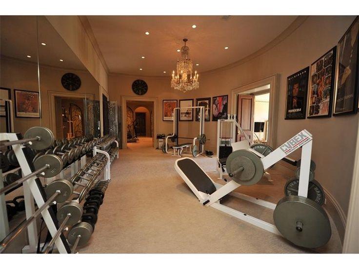 A Gym Inside A House For Sale In Atlanta, GA   Listing ID 5763184  .  Fitnessstudio Zu HauseGartenanlageHausgästeLuxus InterieurPool ...