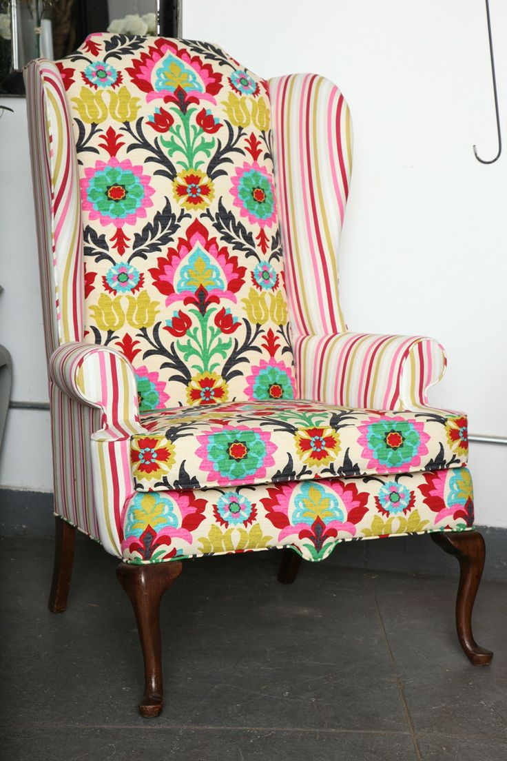 Antique queen anne wingback chair - Antique Queen Anne Wingback Chair