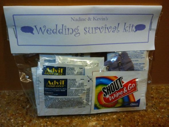 Our Wedding Survival Kits :  wedding oot bags favors destination wedding survival kit bridesmaids inspiration diy Wsk1