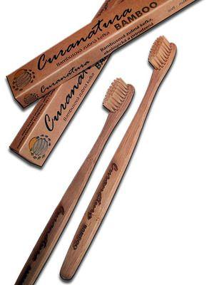 Zubní kartáček s bambusovými štětinkami