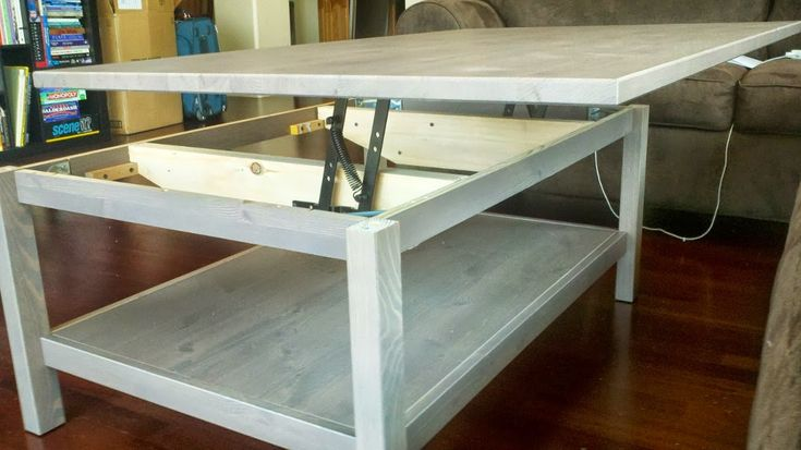 Table basse relevable IKEA avec HEMNES  #HEMNES #ikea #tablebasse