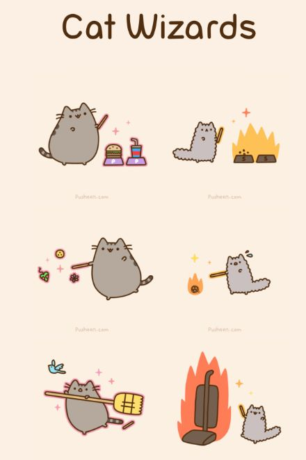 Pusheen setting a vacuum cleaner on fire... Evil vanquished.