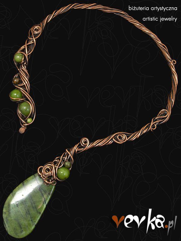 Vevka.pl - autorska biżuteria artystyczna - Naszyjnik -Mroczny las-