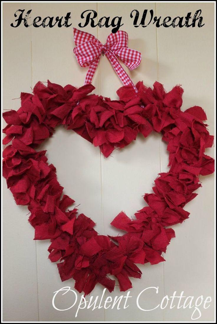 Coffee Filter Wreath Valentine