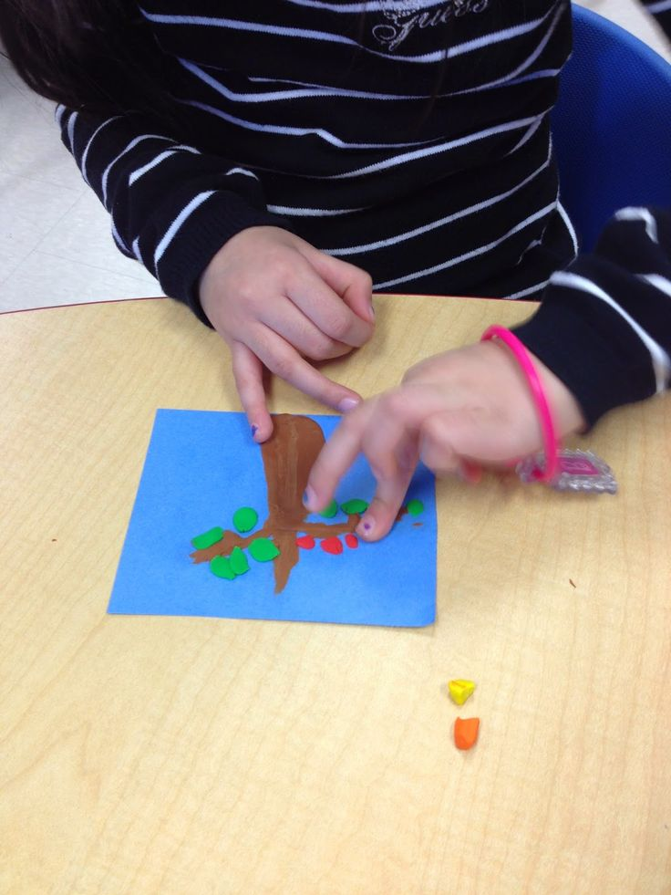 Using plasticine to create pictures based on a Barbara Reid picture