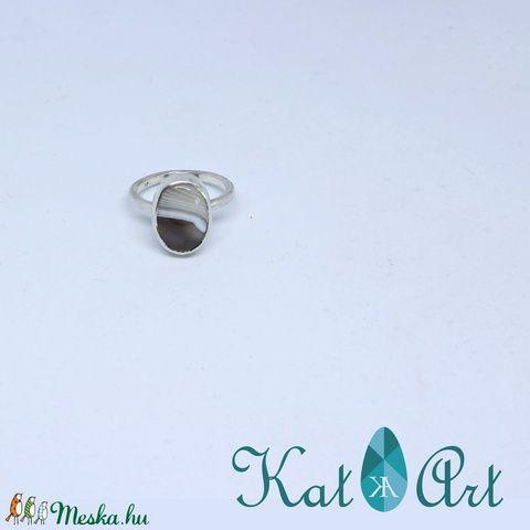 Botswana achát ezüst gyűrű (aKatArt) - Meska.hu
