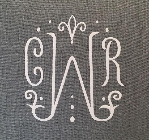 Boxwood Linens | Houston, TX  Custom Monogram #monogram #monograms