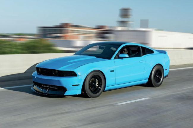 2011 Ford Mustang GT - Gotta Have it Blue: Michael McLin's twin-turbo Grabber Blue 5.0L was built to throw down on the quarter-mile.