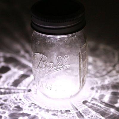 画像2: Ball Mason jar メイソンジャーソーラーライト ON/OFFスイッチ付き 太陽光発電 クリア