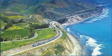 Coast Starlight - the Train from Los Angeles (LAX) to Seattle (SEA) traveling along the Pacific Coast | Amtrak