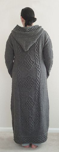 Free Knitting Pattern Long Hooded Cardigan : 17 Best ideas about Knitted Coat Pattern on Pinterest ...