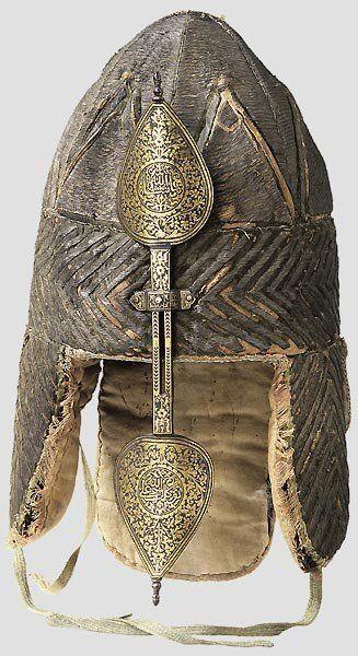 Rus helmet, 17 c. Used by Ermak - conqueror of Siberia, the Russian commander of Tsar Ivan the Terrible