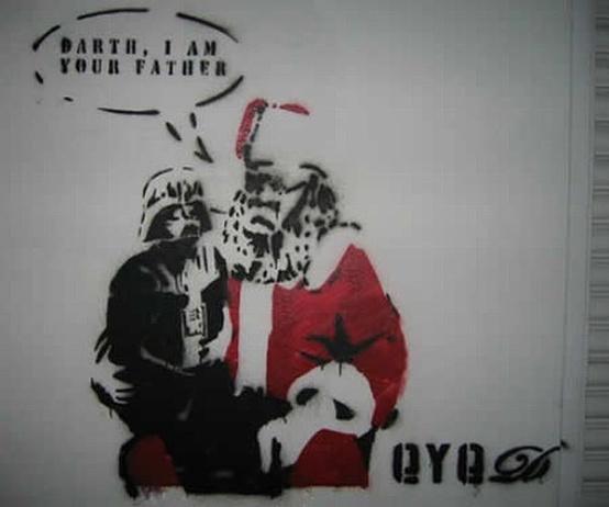 Graffitis de Navidad: Art Stars, Starwars Urban, Stars War, Street Art, Star Wars, Streetart Starwars, Starwars Dmsdesignstudio, Starwars Theme, Starwarsgraff Streetart