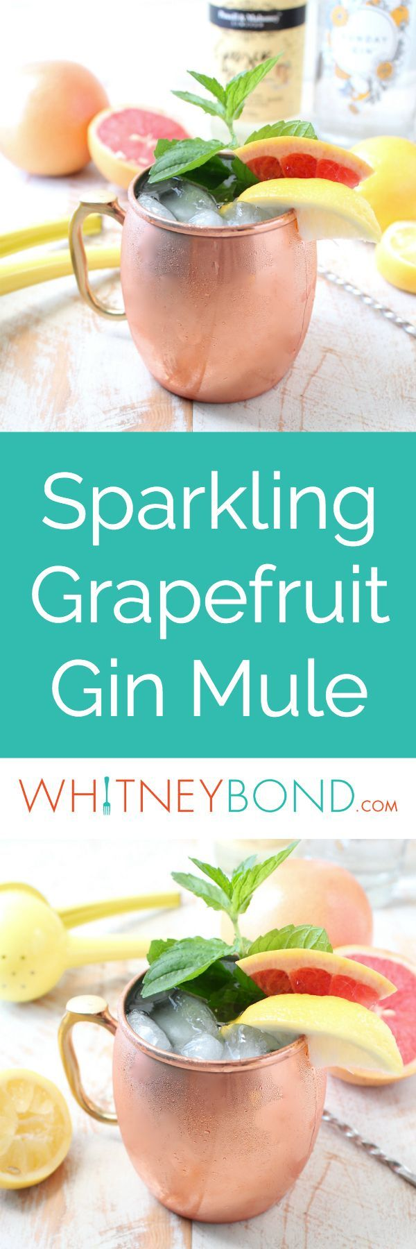 This delicious twist on a gin mule combines tart grapefruit juice with sweet sparkling wine for a refreshing cocktail that's also so easy to make! Pick up a couple of Moscow Mule Mugs at @worldmarket to make this cocktail at home! #WorldMarketTribe