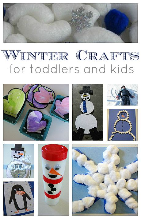 winter crafts - really fun stuff - special focus on clever crafts for toddlers.