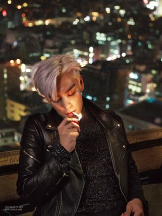 TOP | L'OFFICIEL HOMMES JANUARY '15 ISSUE -  STOP SMOKING BABY, IT'S NOT GOOD FOR YOOOOOU U_U (Top Bigbang)