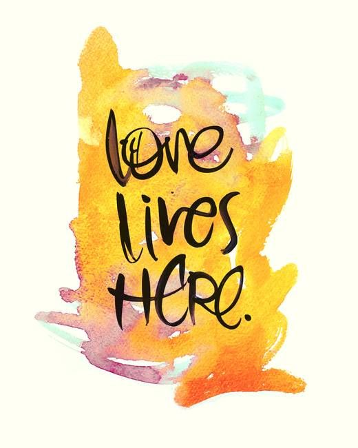 """Love Lives Here"" by Stacy Kron, via @imagekind"