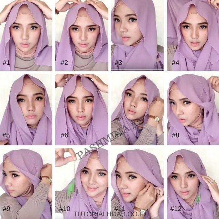Tutorial Hijab Pashmina Dengan Anting Hijab Tutorial Hijab Pashmina Hijab Tutorial