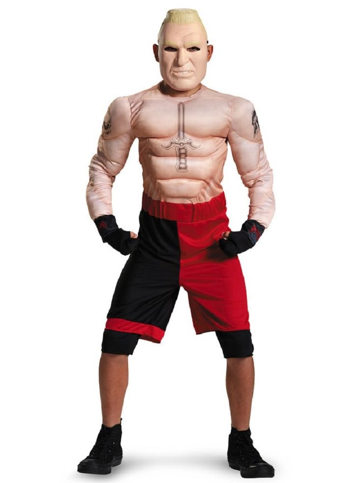 Climbs up to the top rope this Halloween when you have your little guy dress up as everyone's favorite WWE Superstar Brock Lesnar.   Officially-licensed, this Brock Lesnar Halloween outfit features everything that your little buddy needs to suit up and enter the ring.    Tussle with friends or troll out in the streets for a nice, big bag of Halloween candy, this Brock Lesnar Halloween costume will make your little one the envy of his friends.