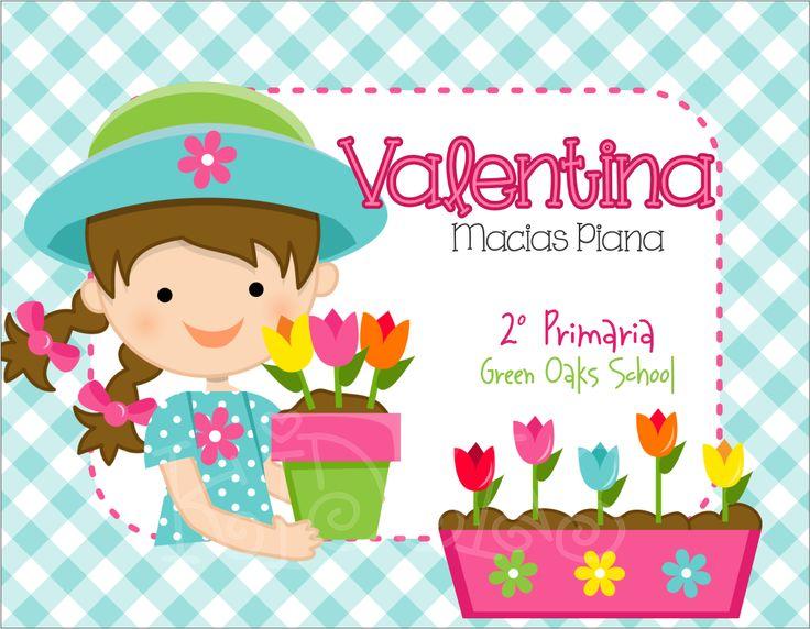 Nena flores maceta back to school pinterest for Sticker decorativos para ninos