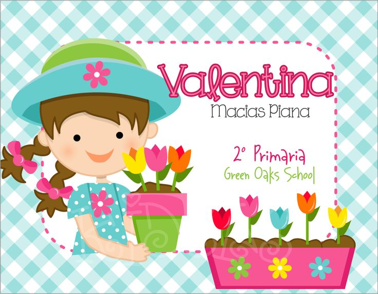 Nena Flores Maceta #back2school #etiquetas #escolares #stickers #etiquetatodo #maskideas