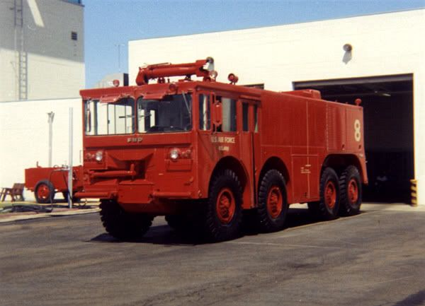 A P-2 crash-fire truck, it was the biggest and best crash-fire truck in the world in 1968: Trucks Crash, Crash Trucks, Crash Firs Trucks, Crash Rescue, Fire Brigad,  Fire Trucks, Fire Apparatus, Airports Fire, Fire Engine