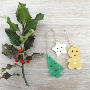 Décoration de Noël en argile polymère Kawaï by Fée Plaisir 8€