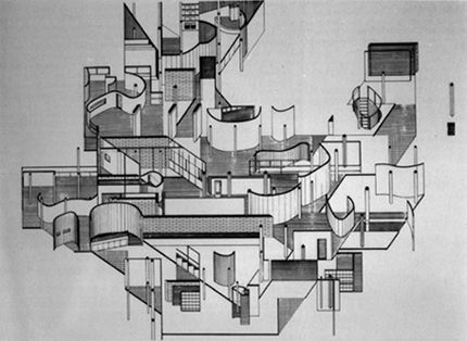 Collage Rebus II from 1970 byDaniel Libeskind viaSerial Consign
