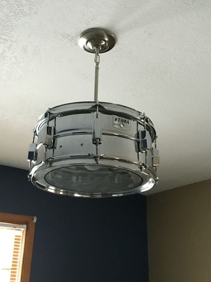Snare drum light fixture for baby's musical inspired nursery