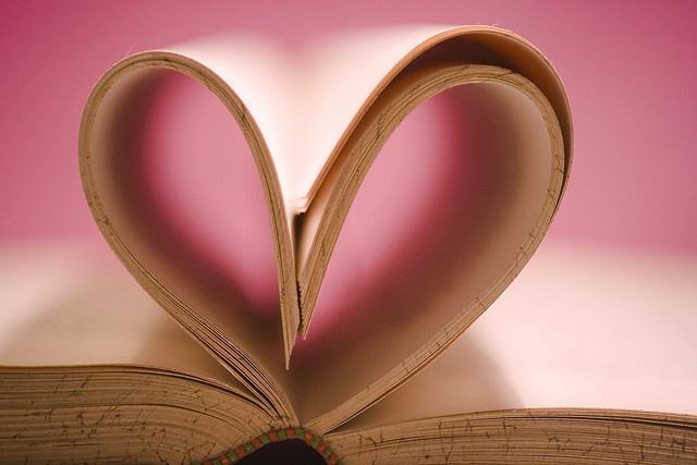 Book pages folded into the shape of a heart: Joyful Hearts, Hearts Galore, Miscellany Hearts, Book Heart 3, Heart Shape, Heart Book, Pink