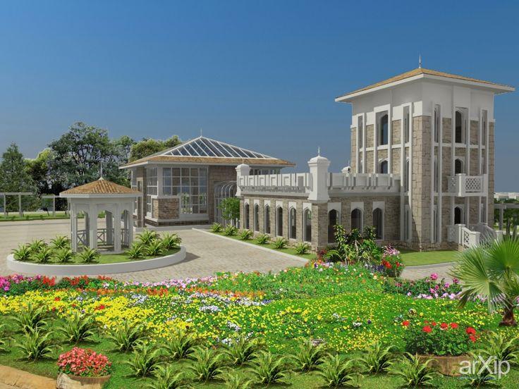 Центр озеление ЦО - 1: архитектура, ландшафтный дизайн, 3 эт | 9м, 500 - 1000 м2, каркас - ж/б, торгово-развл. центр, фасад - камень, восточный, замок, кантри-стиль, городской парк, 10 - 20 соток #architecture #landscapedesign #3floors_9m #500_1000m2 #frame_ironconcrete #shoppingandentertainingcenter #facade_stone #oriental #castle #countrystyle #citypark #10_20acres arXip.com