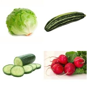 Which vegetables are lowest in calories?